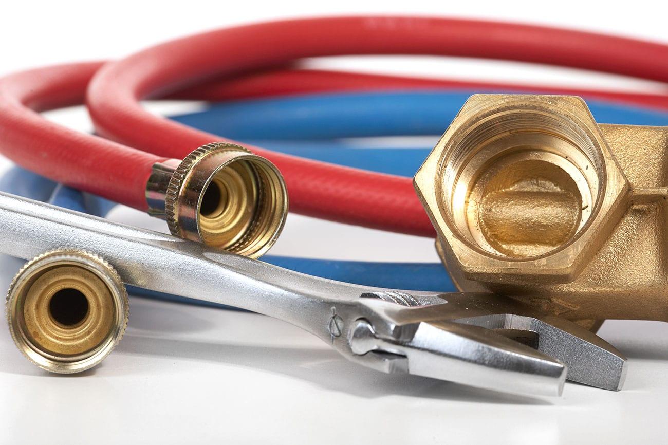 close up of plumbing tools